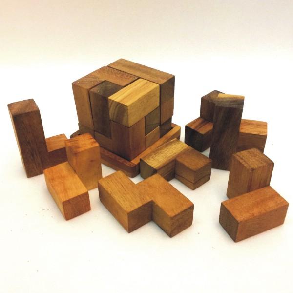 rompicapo in legno cubo soma
